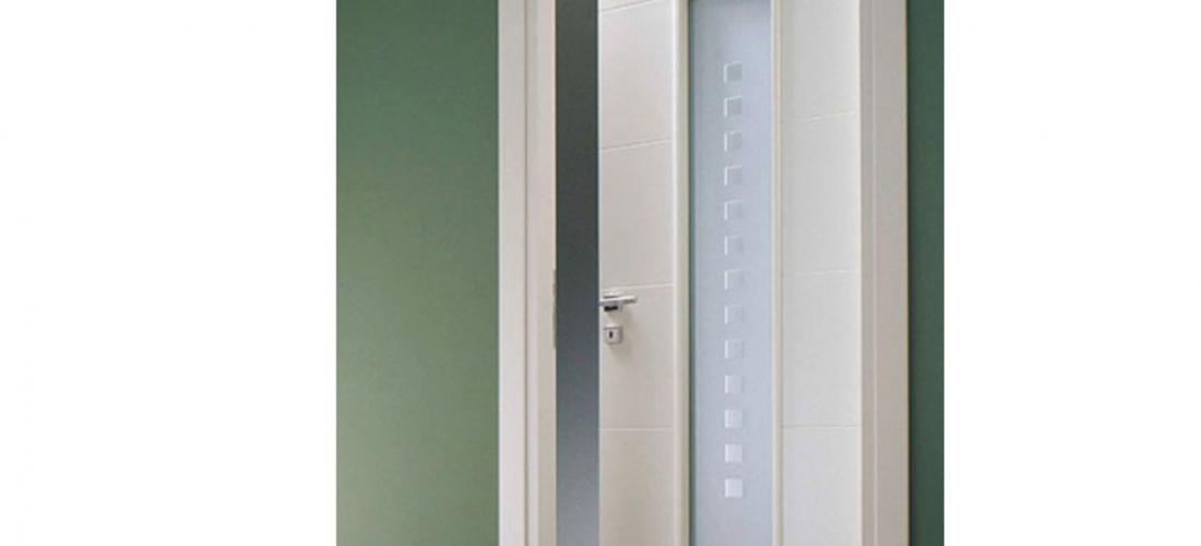 Porte con vetro satinato great cascade porta con vetri - Porte bianche con vetro ...